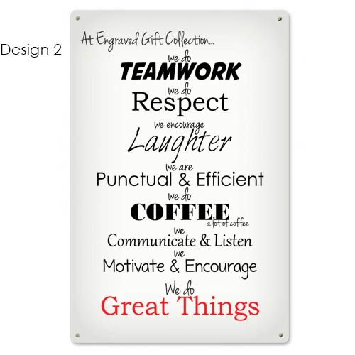 This Aluminium Sign Will Fit Perfect In Any Office Break Room Or Home A Good Reminder For Your Staff Coworkers Or Office Break Room Break Room Staff Room