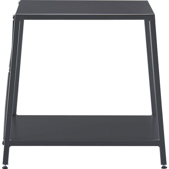 Best Harvey Carbon Grey Nightstand In Accent Tables Cb2 400 x 300