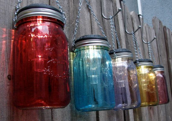 Handmade Hanging Solar Mason Jar Lights