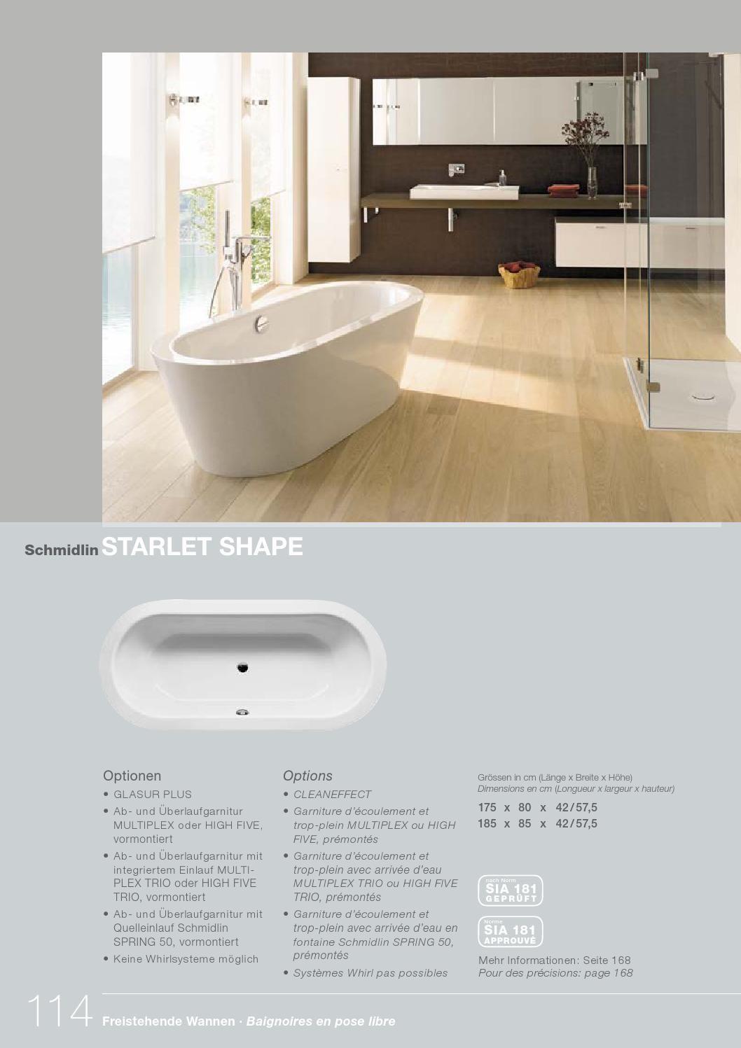 Schmidlin stahlbadewannen katalog 2016 d f baden duschen for Badezimmer katalog