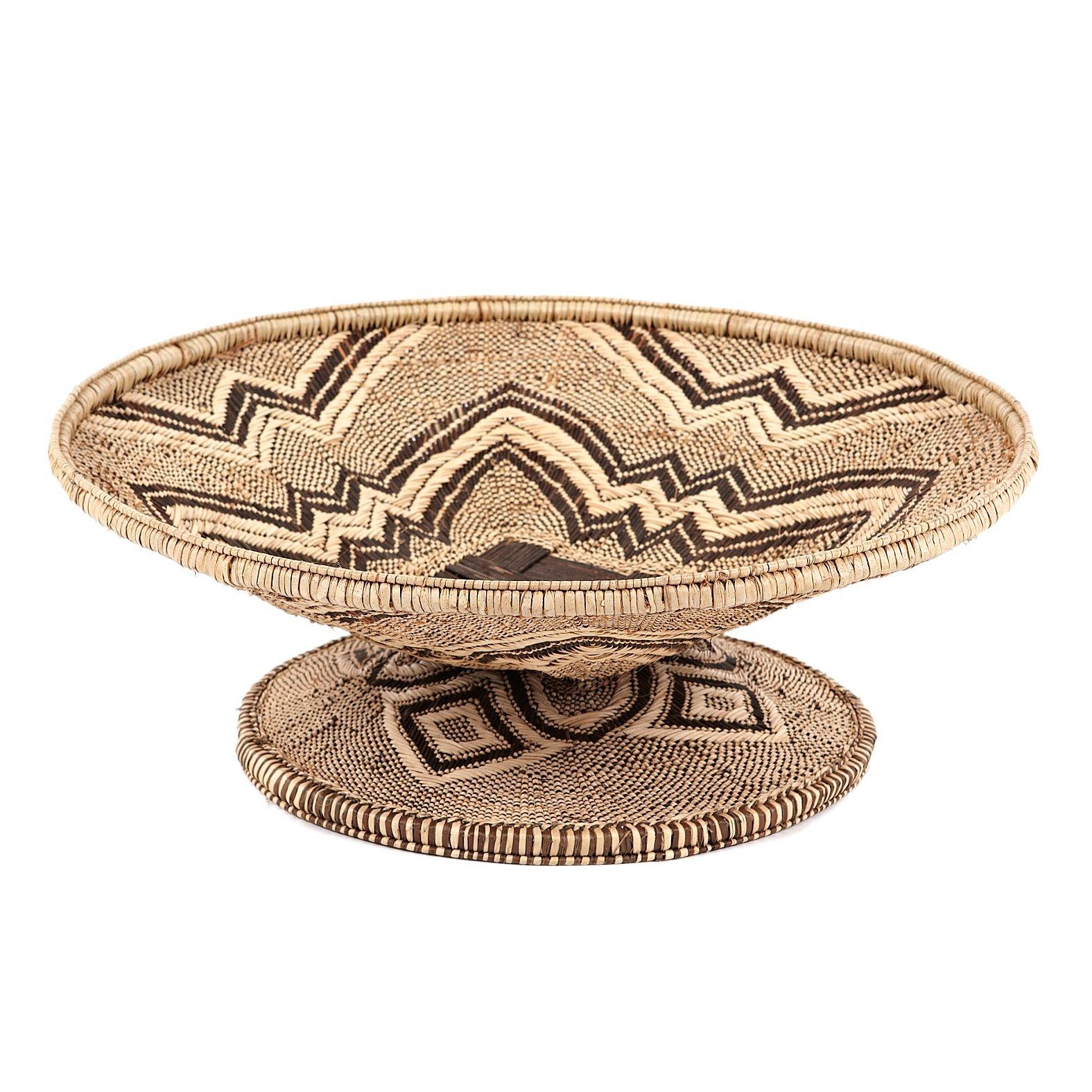 Tonga Basket Pedestal Tray