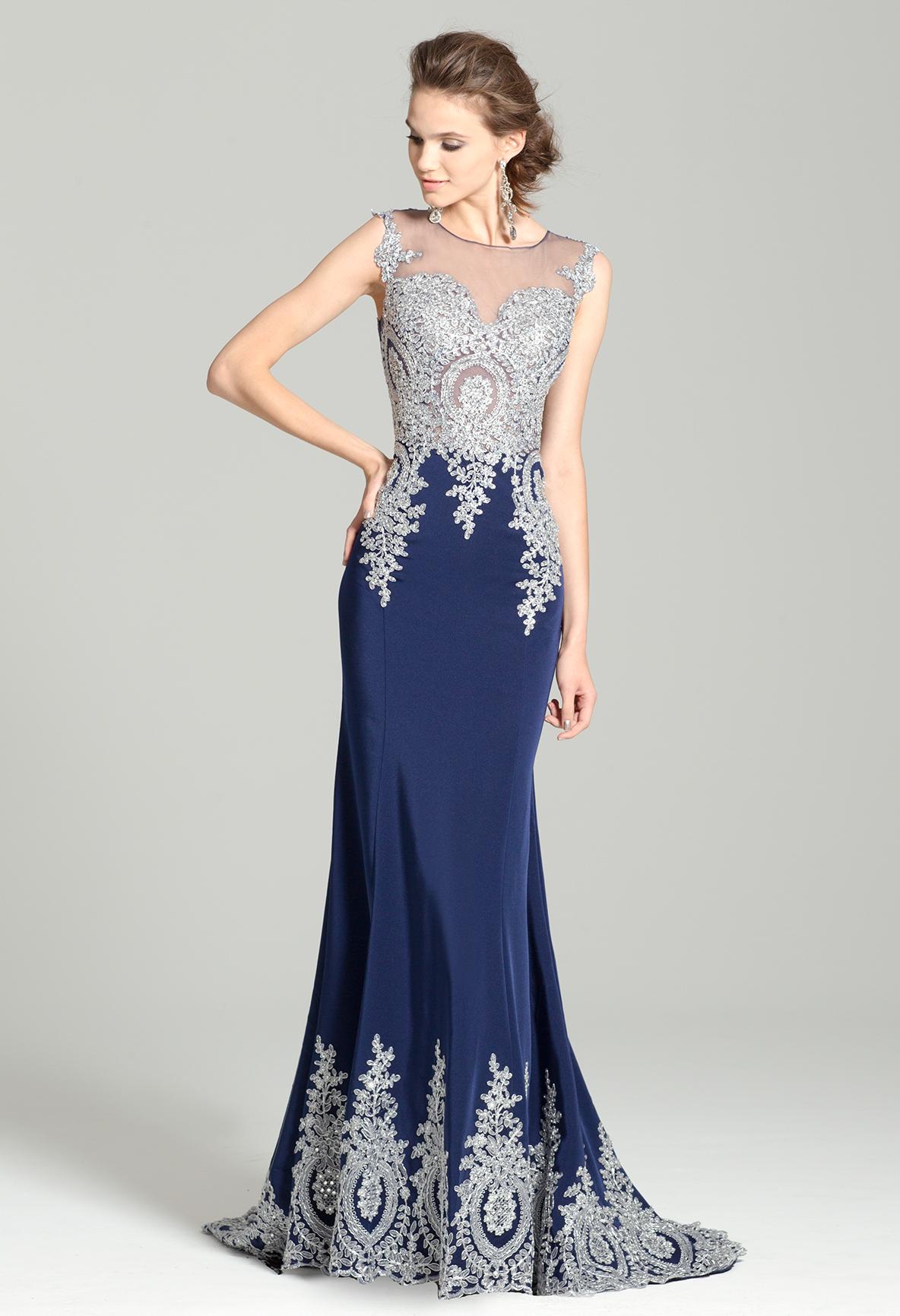 Applique Mesh Dress From Camille La Vie And Group Usa Vestidos Moda Festa Moda [ 1732 x 1184 Pixel ]