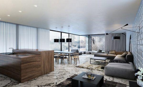 Moderne Wohnzimmer Dekoration Ideen - Farbe, Möbel und Leuchten - wohnzimmer dekoration grau
