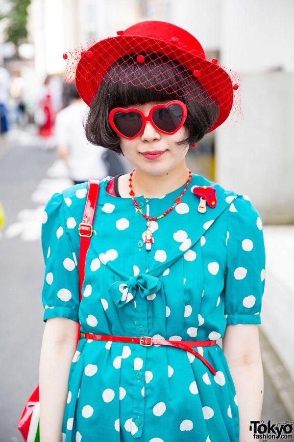 Harajuku Girls in Vintage Styles w/ Hats, Polka Dots & Stripes (Tokyo Fashion, 2015)