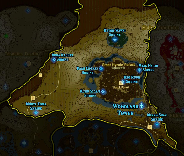 Zelda: Breath of the Wild shrine maps and locations (With images) | Breath of the wild. Zelda breath of wild. Zelda breath