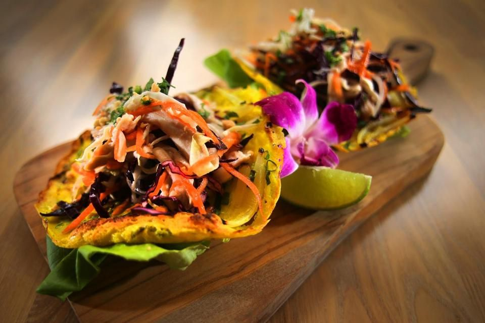 Is It A Taco A Vietnamese Crepe And Other Questions You Ll Ask At District Kitchen The Boston Globe Food Vietnamese Crepes Small Plates Restaurant