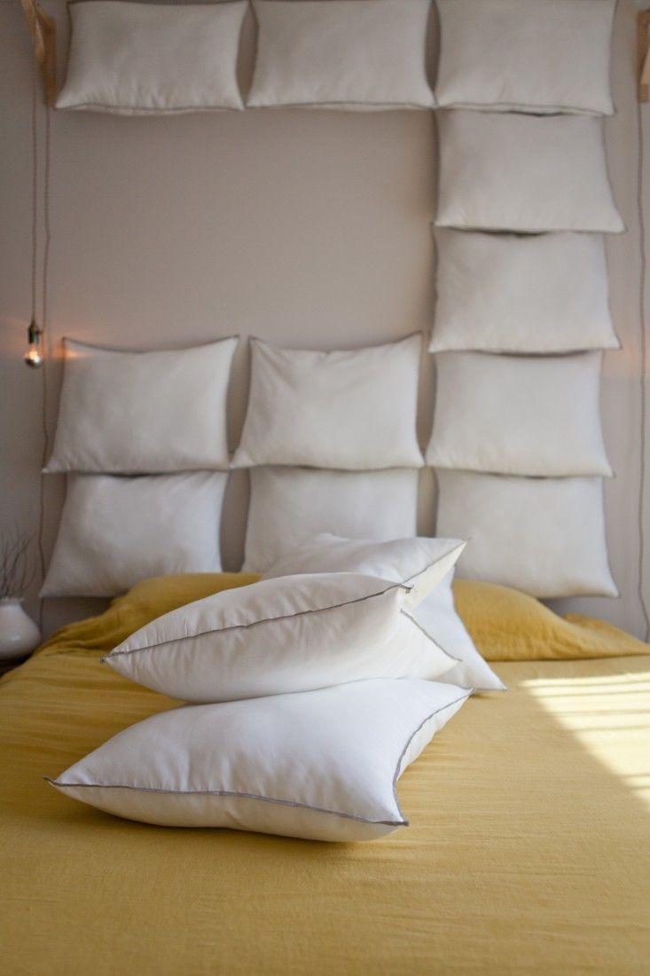 Just Add Pillows The Diy Headboard For 35 Pillow Headboard