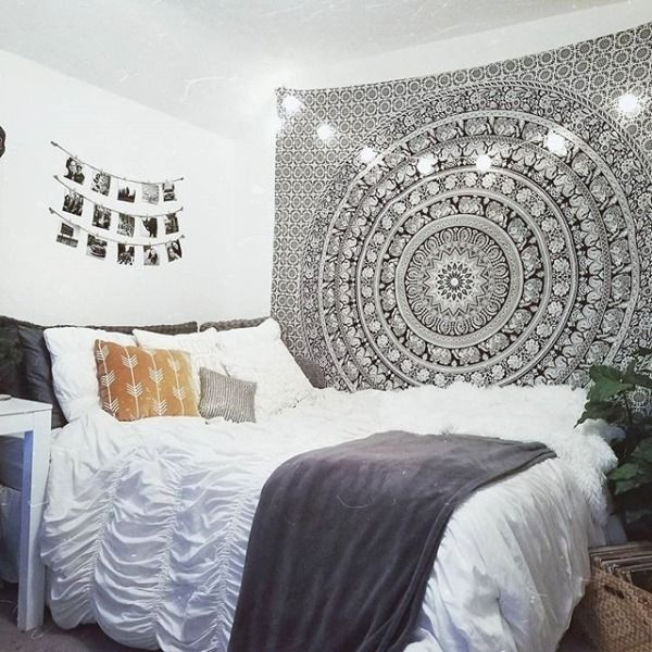 Bedroom Ideas For Teenage Girls Tumblr Bedroom Colour Palette Bedroom Paint Colour Ideas 2015 Bedroom Lighting Over Bed: Magical Thinking Floral Elephant Tapestry In 2019