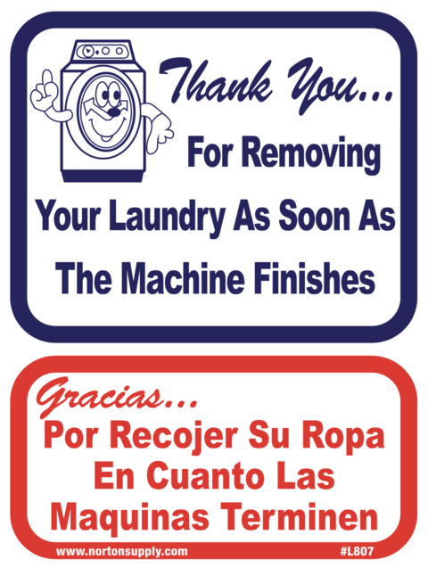 Sign Thank You For Gracias Por Norton Supply Laundry Business Laundromat Business Laundry Shop
