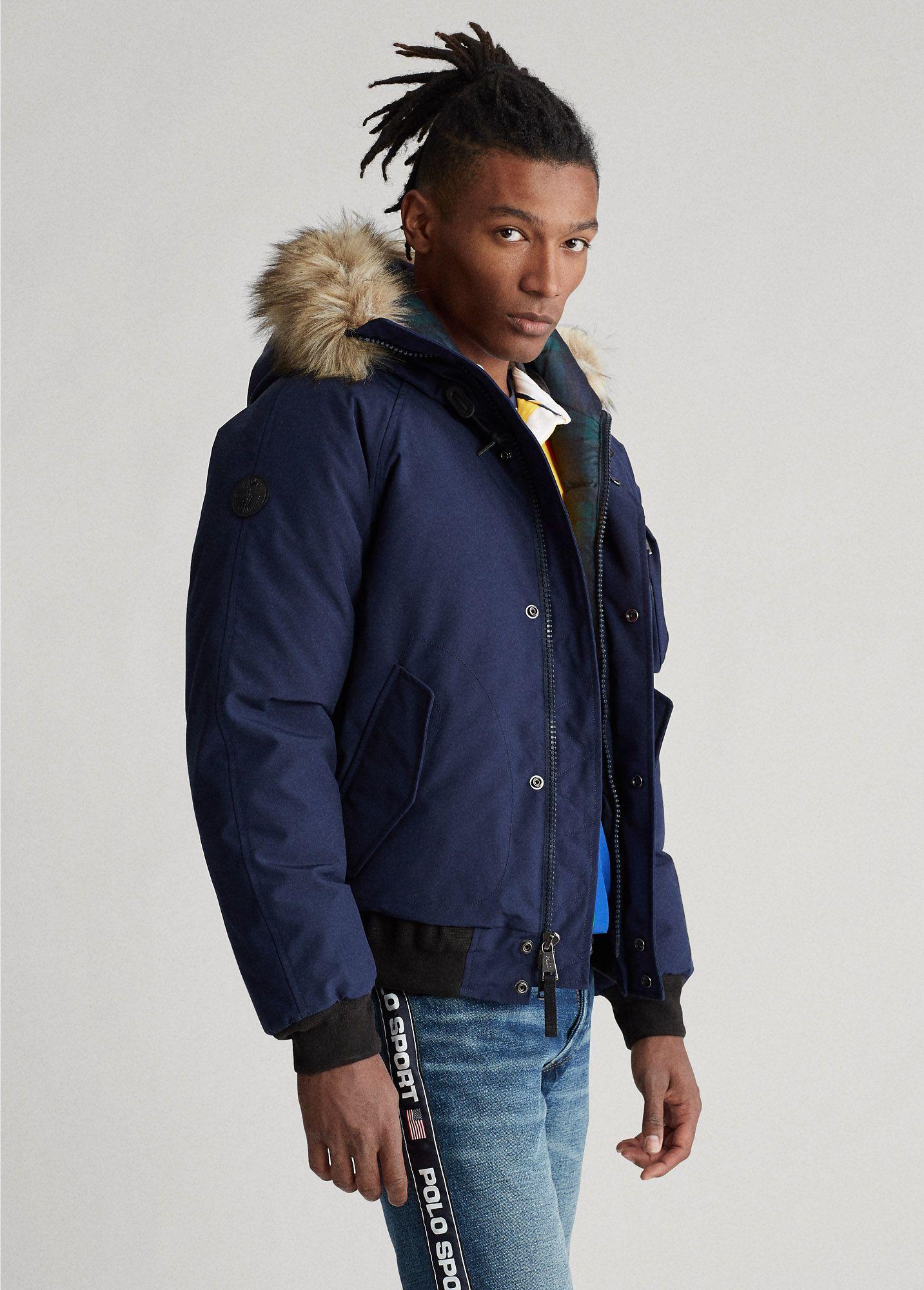 Polo Ralph Lauren Faux Fur Trim Down Jacket Down Jacket Clothes Jackets [ 2000 x 1433 Pixel ]