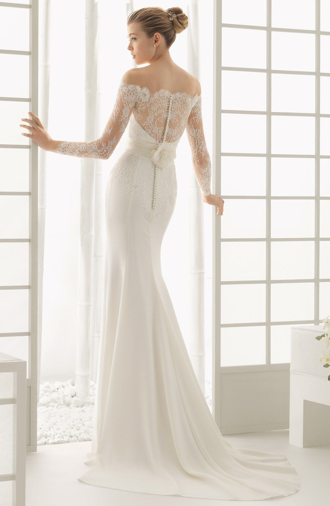 Free shipping and returns on rosa clara dado lace overlay column wedding dress ombrellifo Image collections