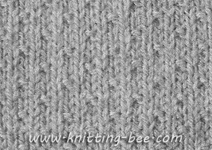 Free Dot Stitch Knitting Pattern Cast on Multiple of 4 plus 1 1st row: (RS) p...