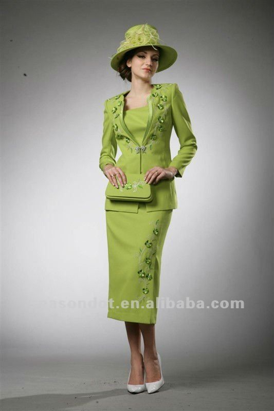 Green Suites Green Ladies Church Suits Photo Detailed About Green