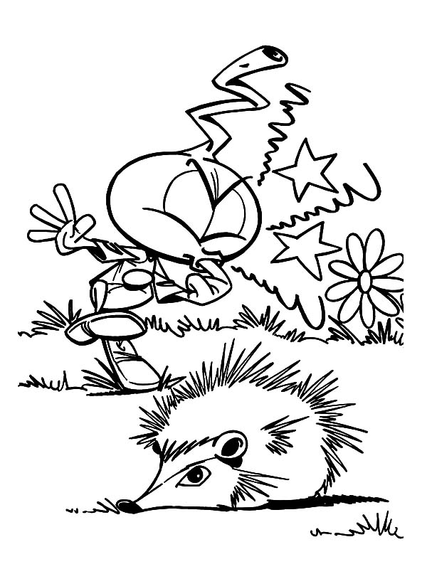 Allstar Hurt Because Of Hedgehog Spine In Snorkels Coloring Pages Best Place To Color Coloring Pages Coloring Book Pages Snorkels