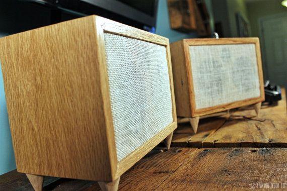 Reclaimed Wood Oak Handmade Bookshelf Speakers Pair Origin Duo V1 0 Handmade Bookshelves Wood Company Oak