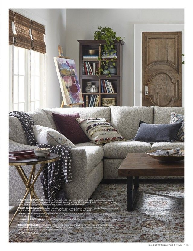 bassett furniture  sectional living room small small