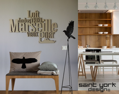 marseille loft industriel decoration murale en bois brut. Black Bedroom Furniture Sets. Home Design Ideas