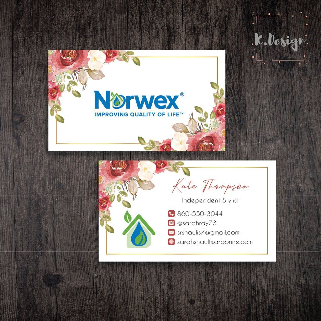 Norwex business cards personalized norwex template nw03