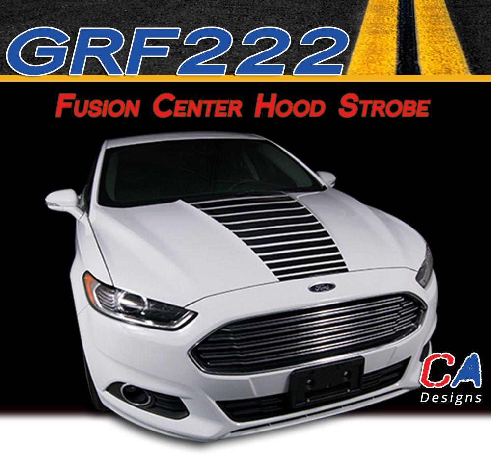 20132015 Ford Fusion Center Hood Strobe Vinyl Stripe Kit