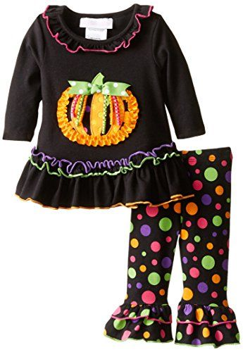 f0b11a1d2b066 Bonnie Baby Baby Girls Multi Dot Pumpkin Legging Set Black 36 Months -- To  view further for this item, visit the image link.