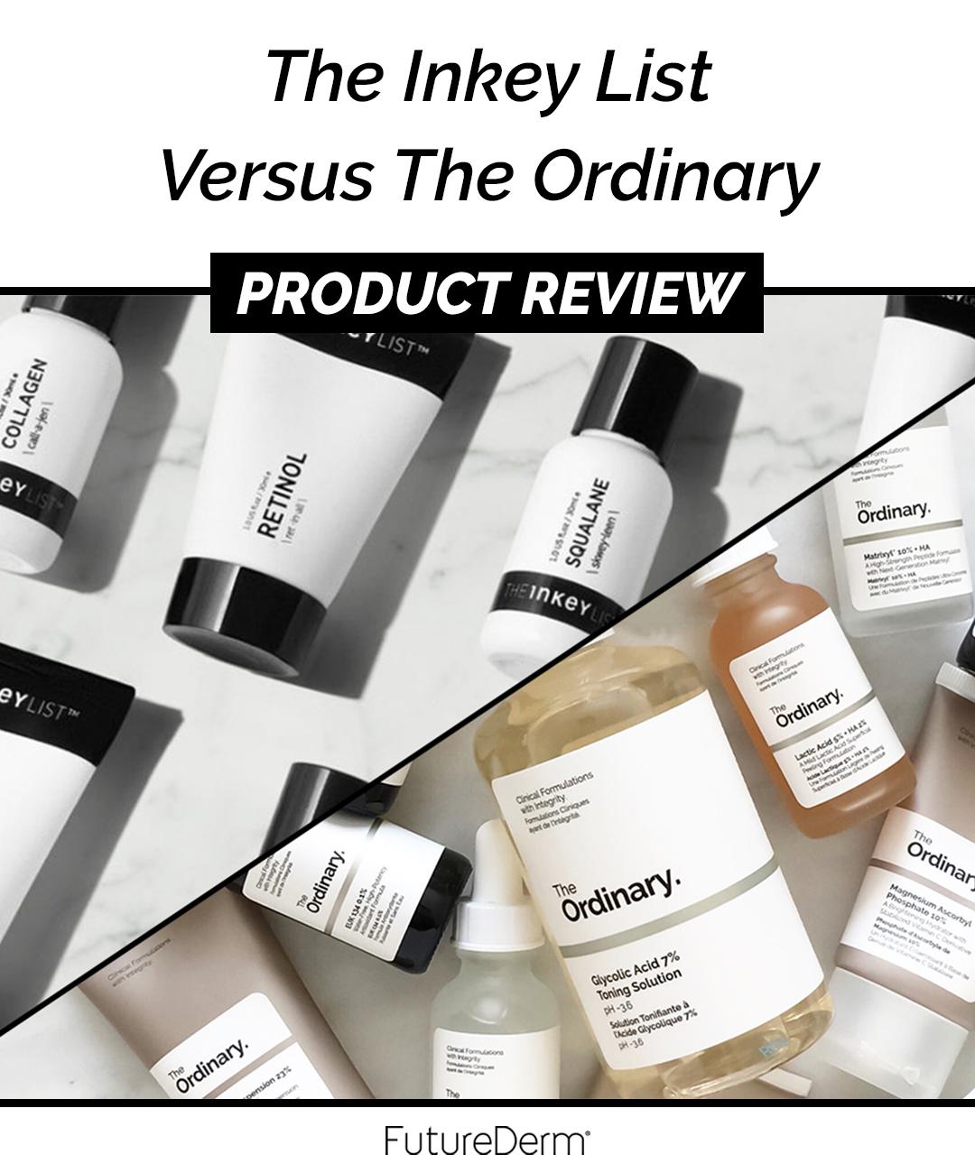 The Inkey List Versus The Ordinary Skin care, Skin care