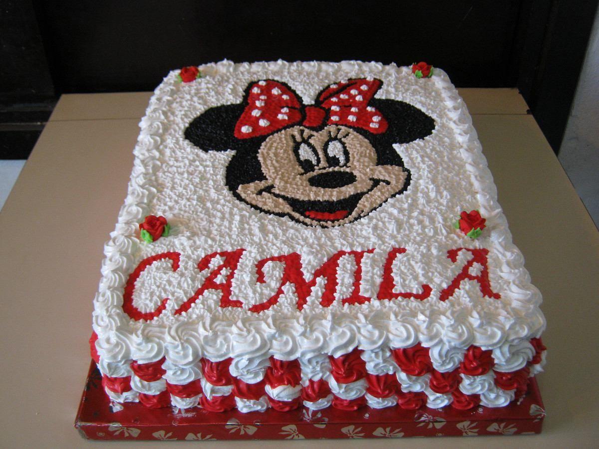 Torta de minnie con crema buscar con google decoracion for Decoracion de tortas faciles