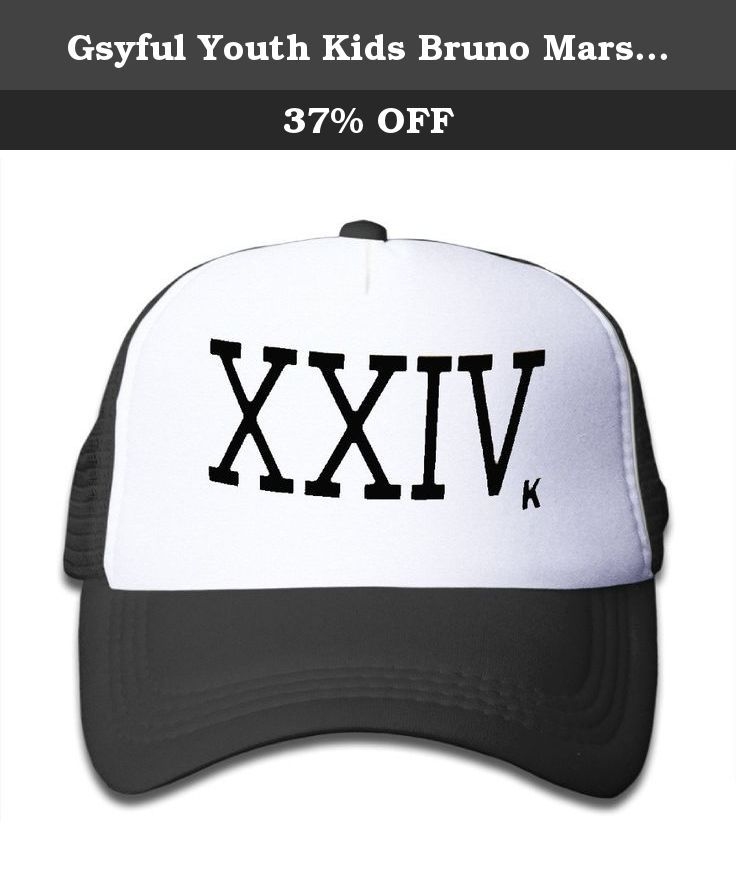 Gsyful Youth Kids Bruno Mars 24K Magic XXIV Half Mesh Adjustable Baseball  Cap Hat Snapback Black eecd2c34ff9