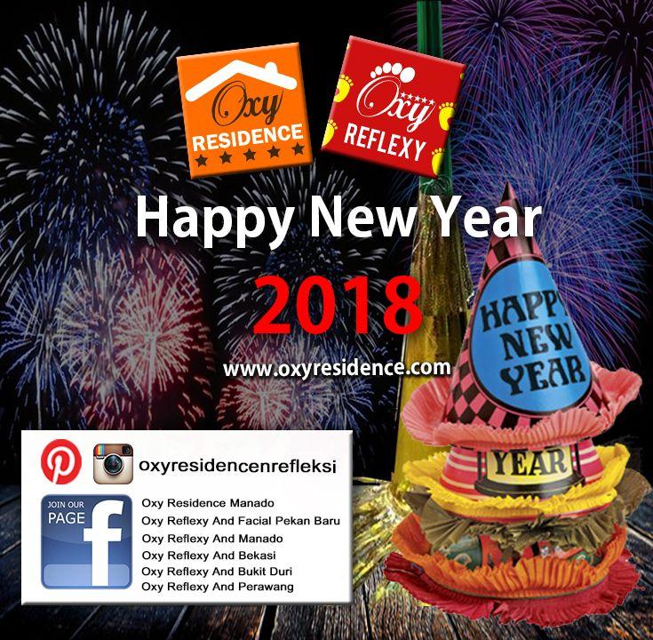 Segenap Management Oxy Residence & Reflexy mengucapkan Selamat Tahun Baru 2018 #oxyresidence #oxyreflexyandfacial #newyear2018