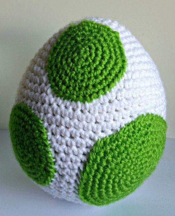 Amigurumi Yoshi Big : Yoshi Egg Amigurumi Crochet Pattern PDF/ by ...