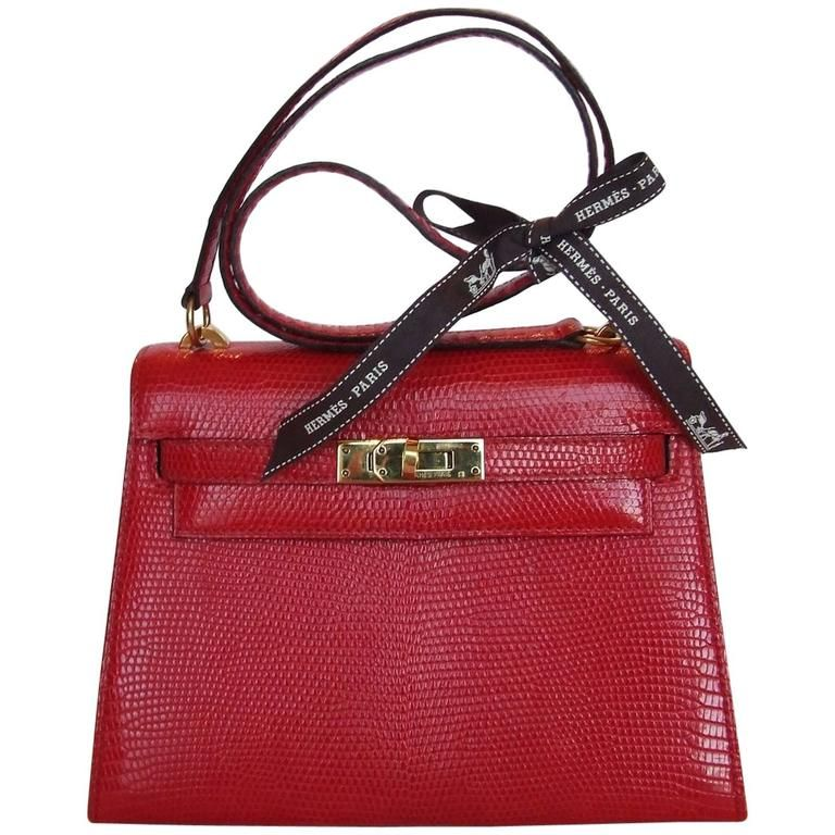 a5ddd98464a ... amazon exceptionnal and rare hermes mini kelly bag 20 cm 2 ways red  lizard gold hdw