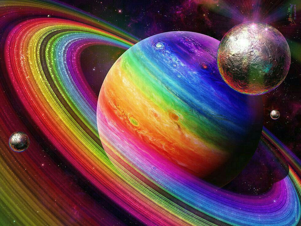 Rainbow Space With Images Rainbow Wallpaper
