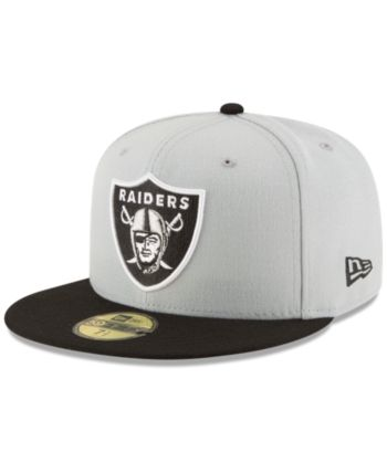 various colors afcf6 250e4 New Era Oakland Raiders Team Basic 59FIFTY Fitted Cap - Gray 7 1 8