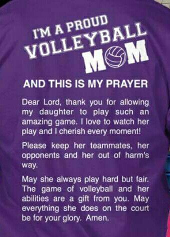 Volleyball Mom S Prayer Volleyball Mom Quotes Volleyball Crafts Volleyball Mom