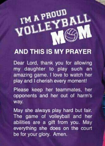 30e60206 Volleyball Mom's Prayer | Volleyball | Volleyball 2017, Volleyball ...