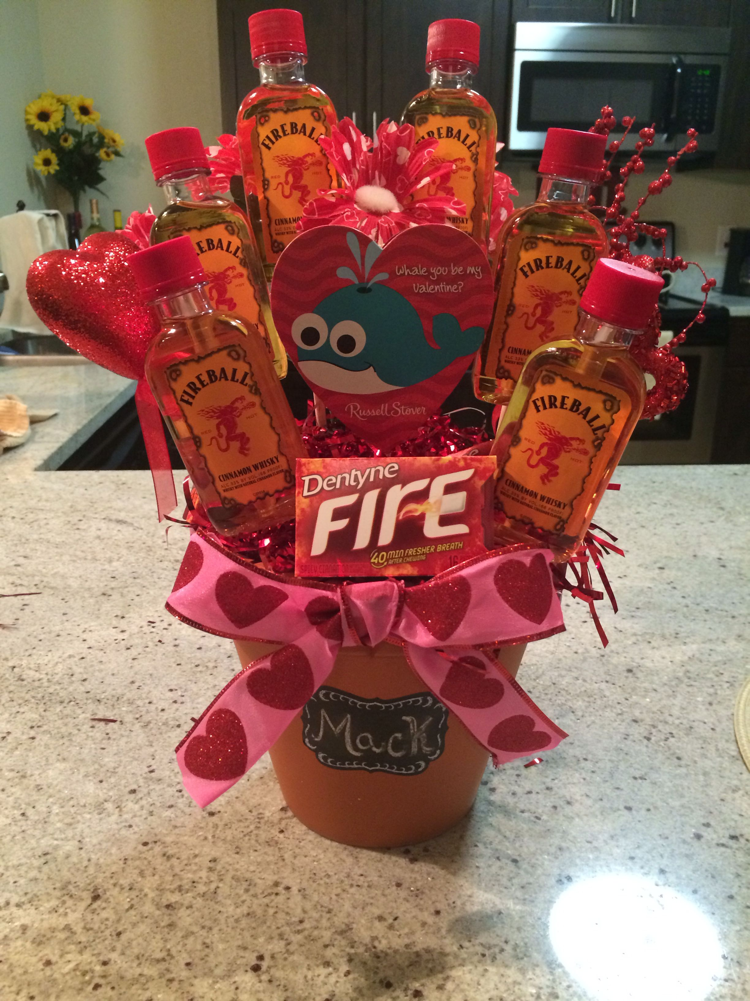 Fireball Liquor Bouquet For Valentine S Day Crafts Diy