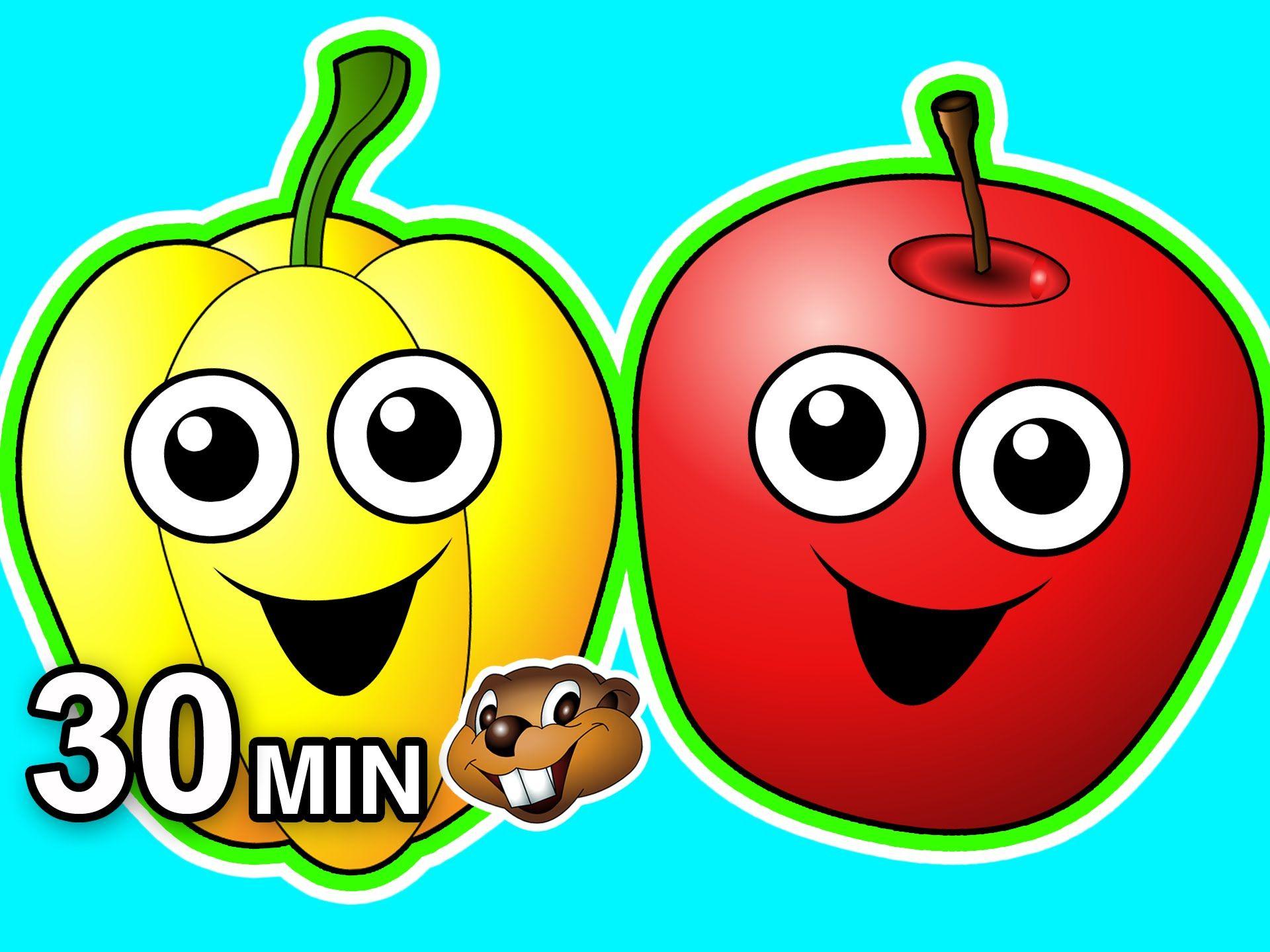 Healthy Snack Songs 30 Minute Collection Fruits Veggies Kids Nursery Rhymes Teach Babies Kids Veggies Kids Nursery Rhymes Healthy Snacks