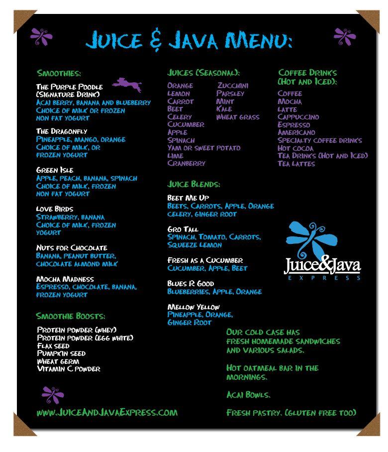 Juice Java Express Com Menu Recipes Drinks Best Interior
