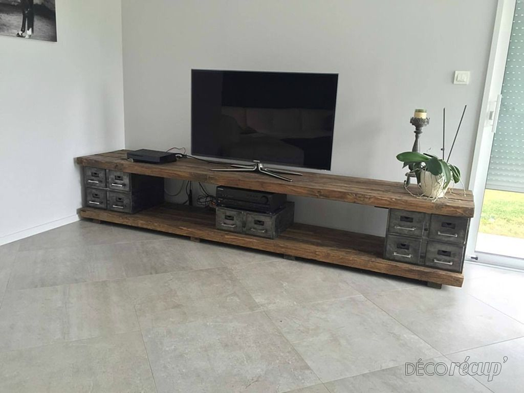 Meuble Tv Industriel Projects En 2019 Meuble Mobilier