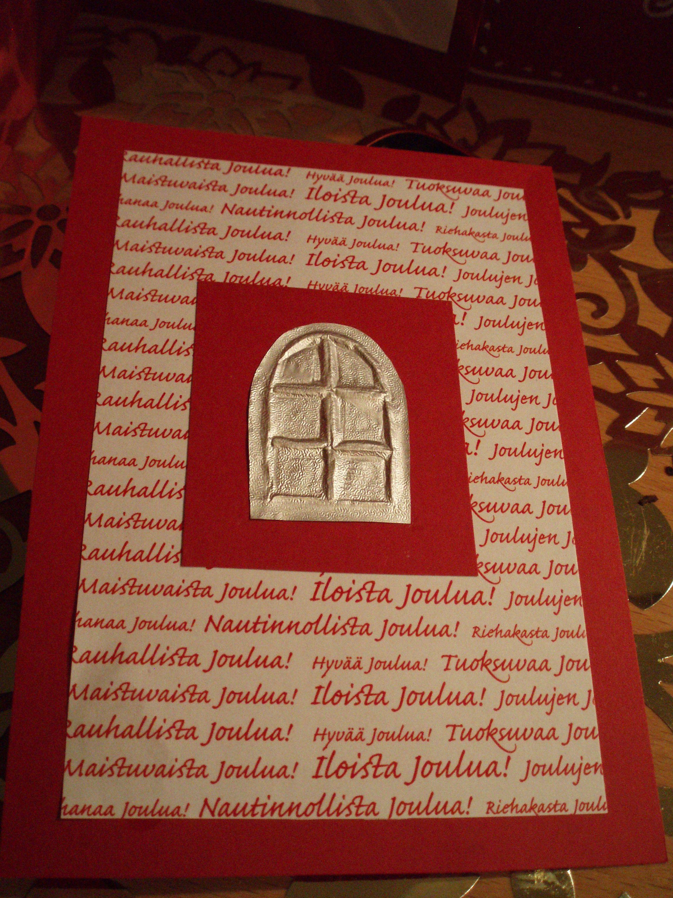 Ikkuna-joulukortti