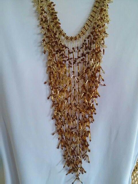 e52581ea4603 Collar cascadas  dorado