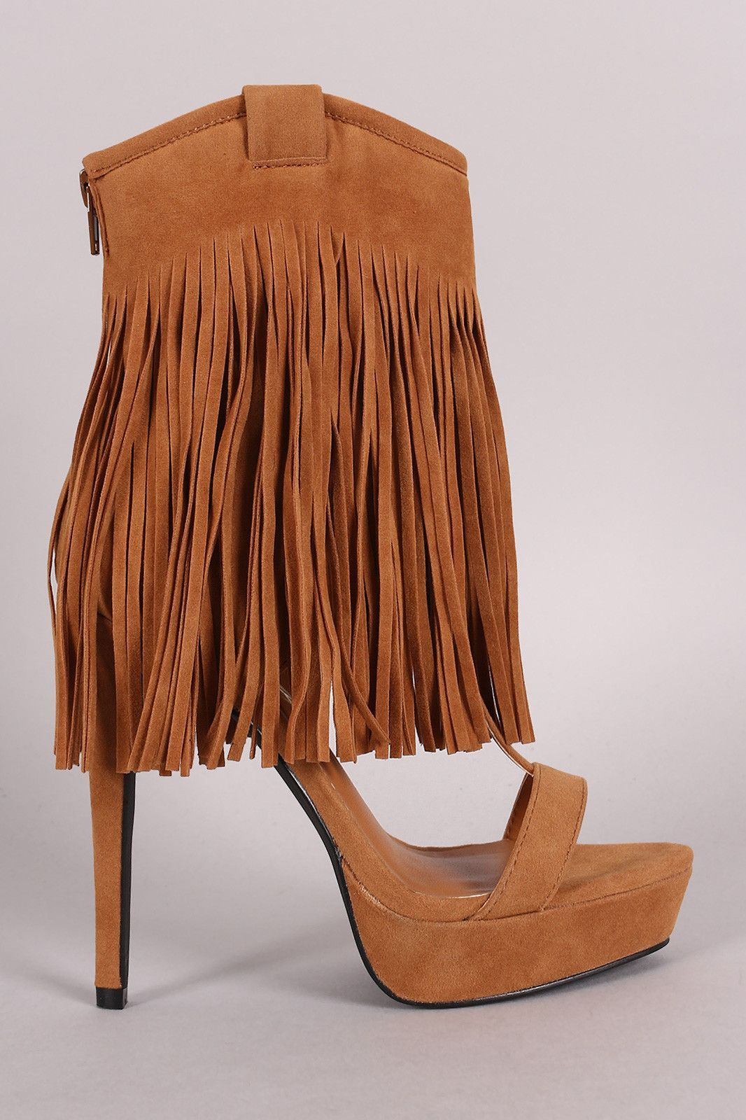 Privileged Suede Long Fringe Cuff Stiletto Platform Heel  #fashionclub #fashionblogger #womensfashion #fashionable #style #fashiongram #trendy #fashion