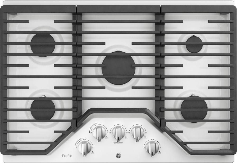 GE Profile PGP7030DLWW 30 Inch Gas Sealed Burner Cooktop
