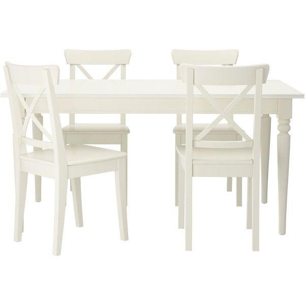 Ikea Ingatorp Ingolf 569 Liked On Polyvore Ikea Kuchentisch Ikea Tisch Und Stuhle Kuche Tisch