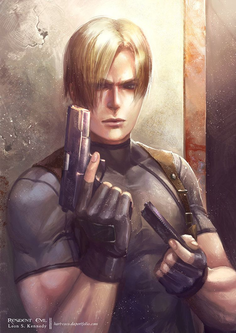 Fanart Of Leon From Resident Evil 4 I Did Last Year Hope You