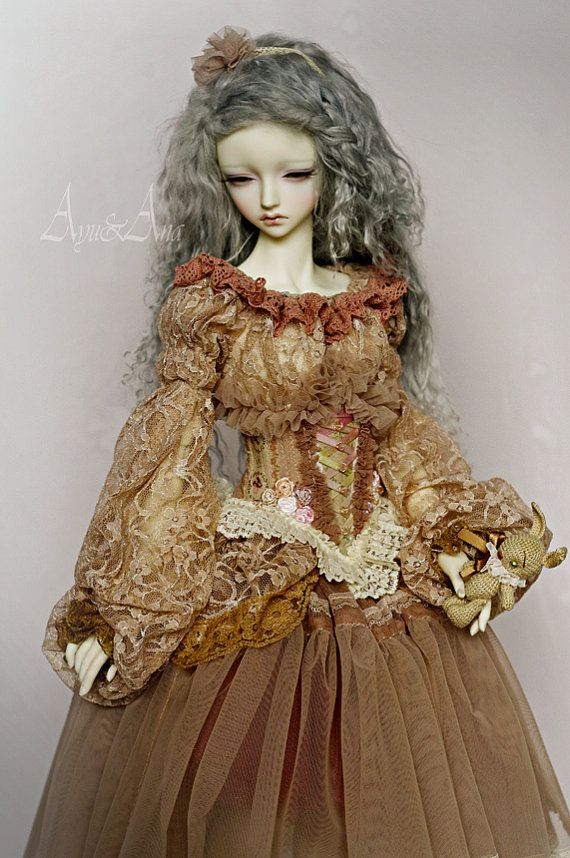 Rose Tea OOAK handmade dress set for bjd dollfie sd by AyuAna