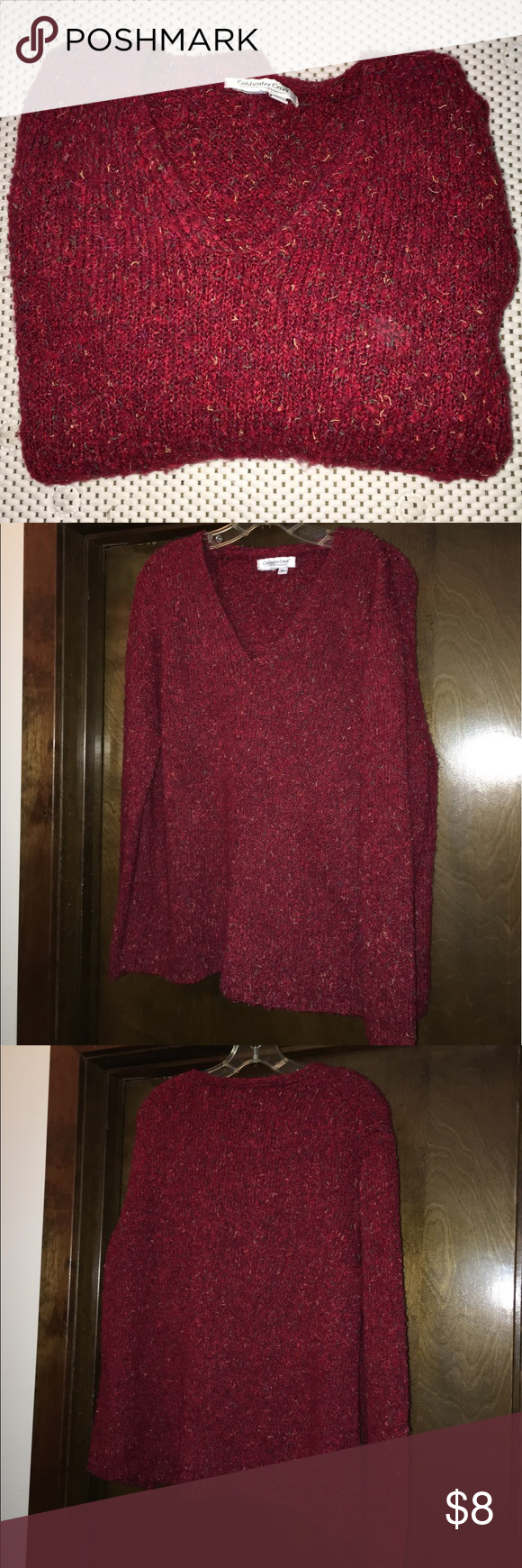Coldwater Creek Dk Red Sweater PRE FALL | Coldwater creek, Red ...