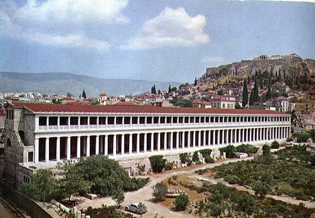 Stoa Of Attalos Ii Agora Athens Greece C 150 Bce Ancient