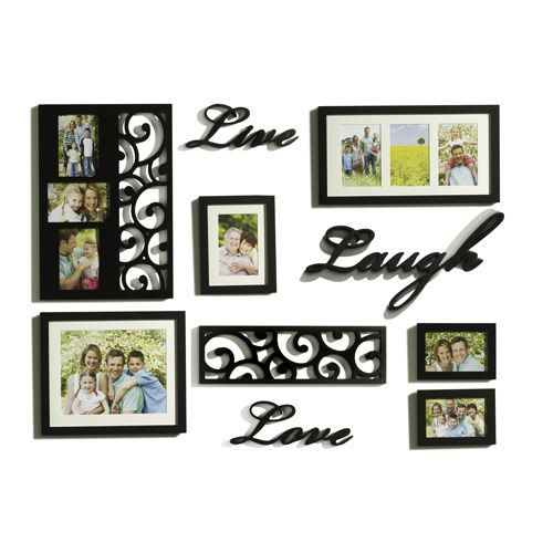 Melannco 10 Piece Live Love Laugh Photo Frame Set Frames On Wall Frame Wall Decor Framed Wall Art Sets