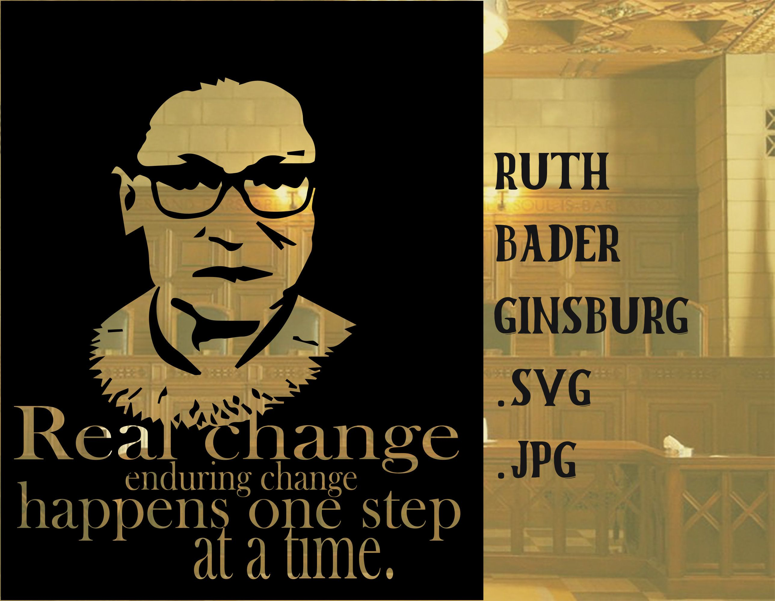 RBG Real Change With Small Steps, .svg and .jpg download