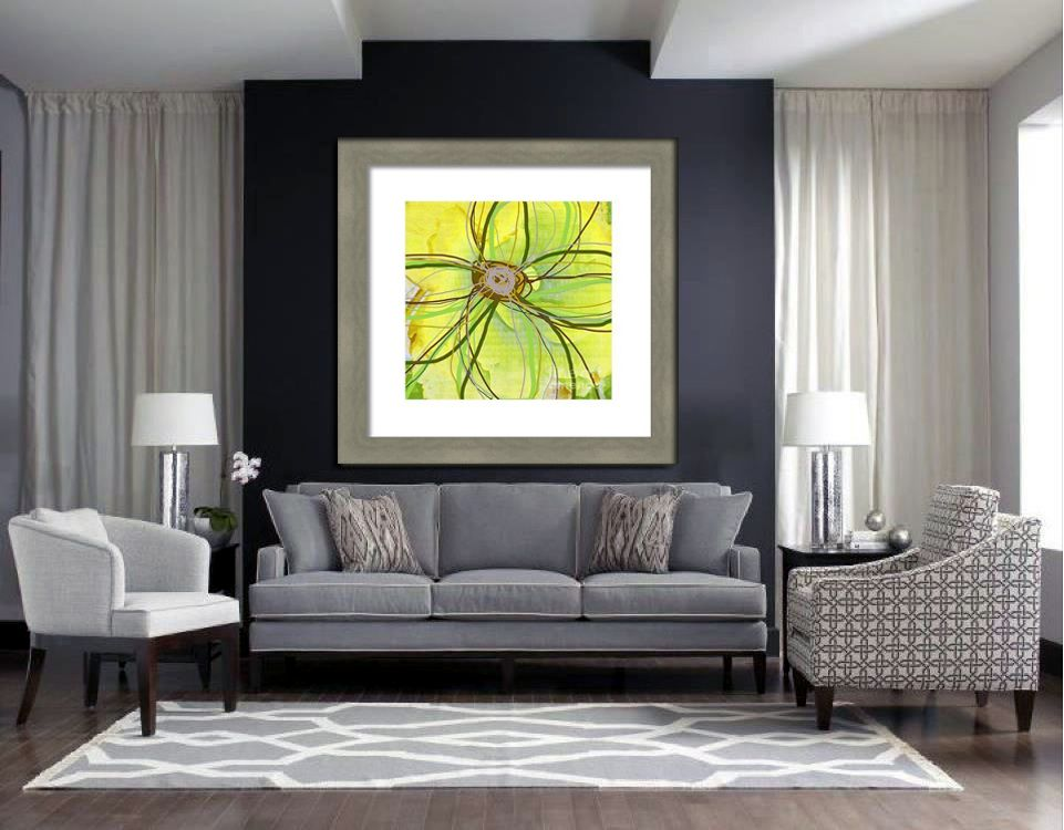 grey and chartreuse living room soft gray interiors and chartreuse floral framed 18628